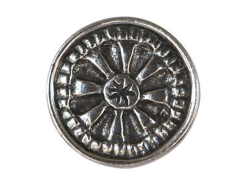 Danforth Mystical Mandala 13/16 inch Pewter Button Antique Silver Color
