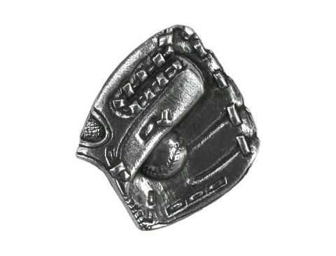 Danforth Baseball Mitt 7/8 inch Pewter Button Antique Silver Color