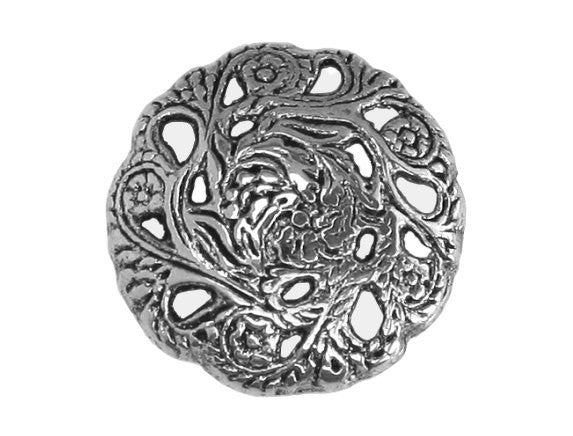 Evensong 11/16 inch Metal Button Antique Silver Color