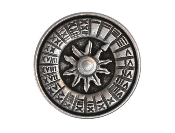 Sundial 11/16 inch Metal Button Antique Silver Color