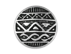 African Shield<br>  7/8 inch Metal Button<br>  Antique Silver Color