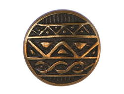 African Shield<br>  7/8 inch Metal Button<br>  Antique Brass Color
