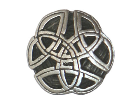 TreasureCast Round Celtic Knot 3/4 inch Pewter Button Antique Silver Color