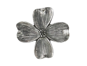 Danforth Dogwood 7/8 inch Pewter Button Antique Silver Color