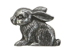 Danforth Rabbit 3/4 inch Pewter Button Antique Silver Color