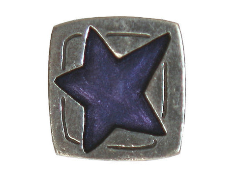 Danforth Blue Star<br> 5/8 inch Pewter Button<br> Antique Silver Color