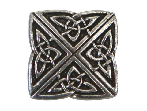 Danforth Celtic Knot 3/4 inch Pewter Button Antique Silver Color