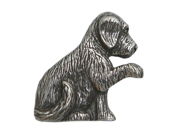 Danforth Molly Puppy 3/4 inch Pewter Button Antique Silver Color