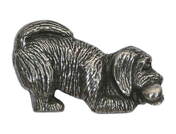 Danforth Prudence Puppy 1 inch Pewter Button Antique Silver Color