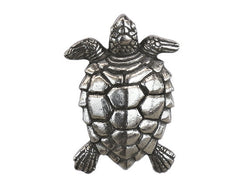 Danforth Turtle 1 inch Pewter Button Antique Silver Color