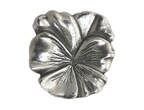 Danforth Large Pansy 7/8 inch Pewter Button Antique Silver Color