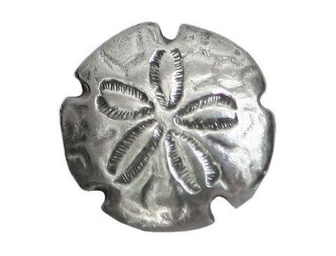 Danforth Sand Dollar<br> 3/4 inch Pewter Button<br> Antique Silver Color