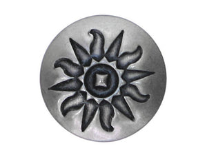 Blackhawk Tribal Sun Symbol 7/8 inch Concho Button Silver Color