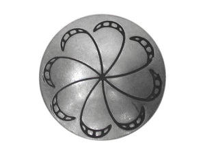 Blackhawk Pinwheel 3/4 inch Concho Button Silver Color