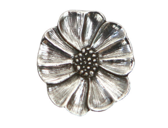 Danforth Wild Rose 7/8 inch Pewter Button Antique Silver Color