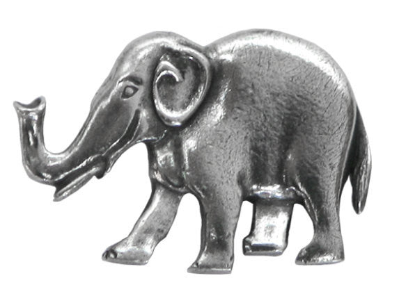 Danforth Elephant 1 inch Pewter Button Antique Silver Color