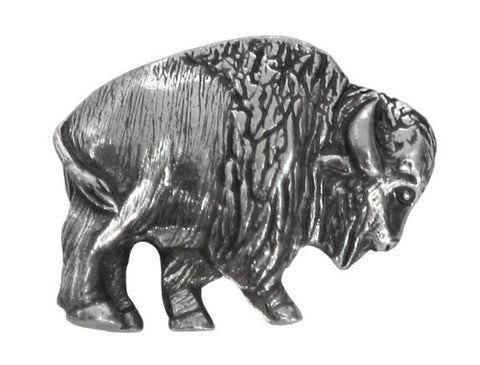 Danforth Buffalo 7/8 inch Pewter Button Antique Silver Color