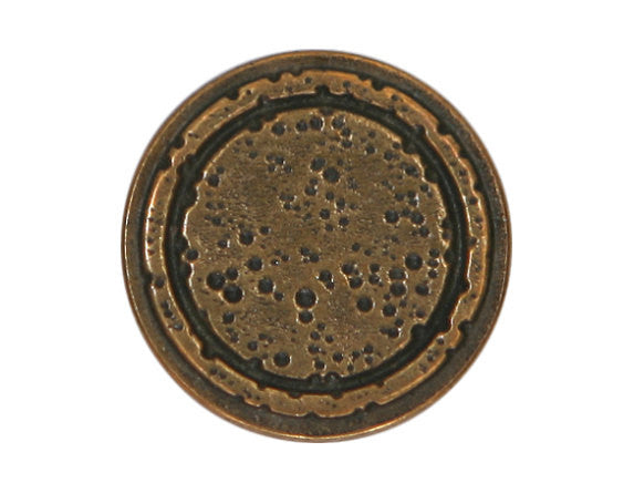 Rustic Rings 3/4 inch Metal Button Antique Brass Color