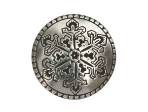 Danforth Snowflake 5/8 inch Pewter Button Antique Silver Color