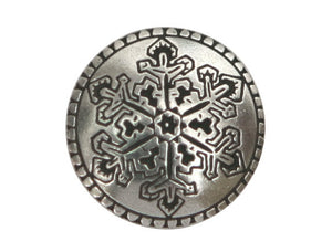 Danforth Snowflake 7/8 inch Pewter Button Antique Silver Color