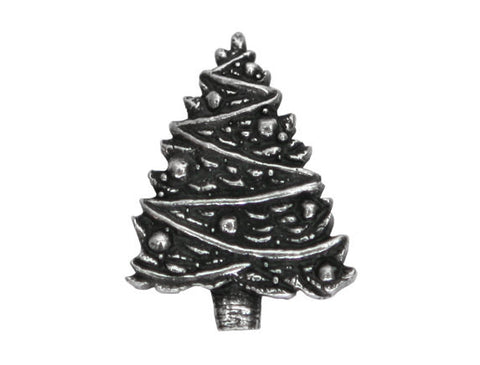 Danforth Christmas Tree<br> 7/8 inch Pewter Button<br> Antique Silver Color