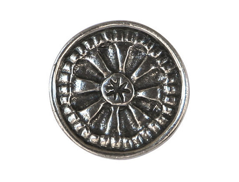 Danforth Small Mystical Mandala 11/16 inch Pewter Button Antique Silver Color