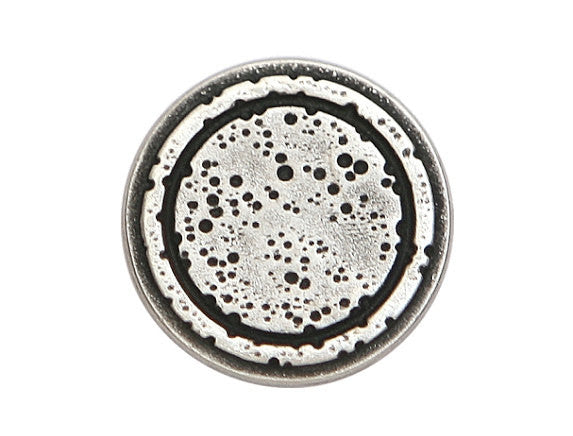 Rustic Rings 5/8 inch Metal Button Antique Silver Color