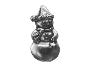 Danforth Snowman 1 inch High Pewter Button Antique Silver Color