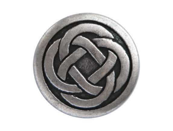 Celtic Knot 3/4 inch Metal Button Antique Silver Color