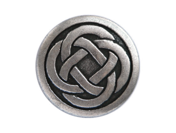 Celtic Knot<br>  5/8 inch Metal Button<br>  Antique Silver Color