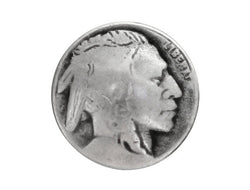 Indian Head<br>  5/8 inch Metal Button<br>  Antique Silver Color