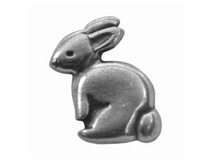 Danforth Bunny 3/4 inch Pewter Button Antique Silver Color