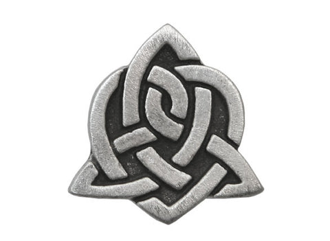 TreasureCast Celtic Sister Knot<br> 3/4 inch Pewter Button<br> Antique Silver Color