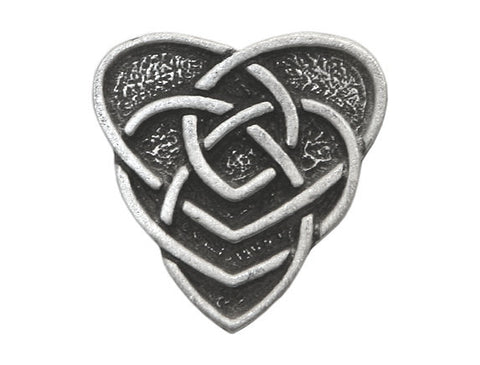 TreasureCast Celtic Motherhood Knot 3/4 inch Pewter Button Antique Silver Color