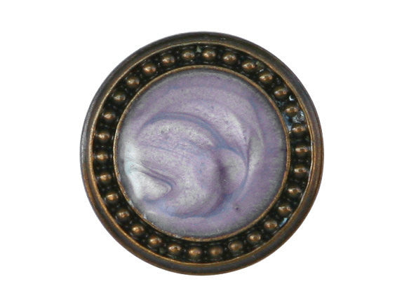 Ravenna 7/8 inch Metal Button Lavender Color