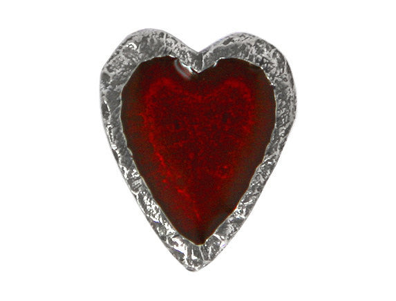 Danforth Crimson Heart 5/8 inch Pewter Antique Silver Color