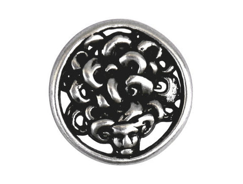 Nicky Epstein Medusa 7/8 inch Metal Button Antique Silver Color