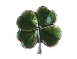 Danforth Clover Shamrock 3/4 inch Pewter Button Antique Silver Color