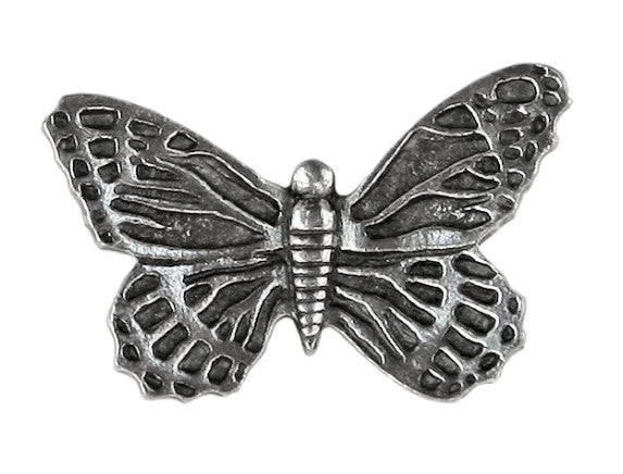 Danforth Butterfly 1 inch Pewter Button Antique Silver Color