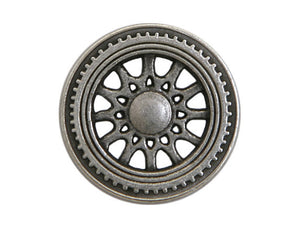 Solstice 3/4 inch Metal Button Antique Silver Color