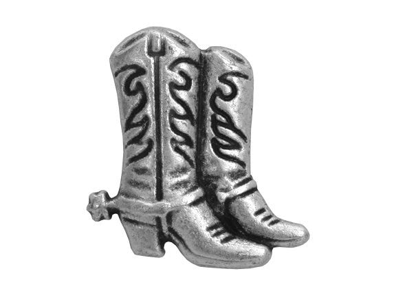Cowboy Boots 13/16 inch Metal Button Antique Silver Color