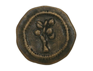 dill rustic tree 1 inch metal button antique brass color buttonjones