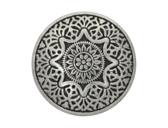 Eastern Star 3/4 inch Metal Button Antique Silver Color