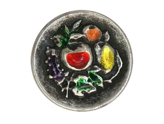 Autumn Festival 7/8 inch Metal Button Multi Color