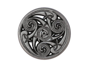 Celtic Swirls 11/16 inch Metal Button Antique Silver Color