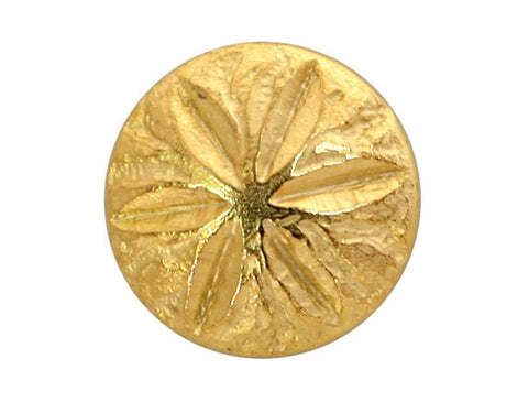 Sand Dollar 5/8 inch Metal Button Matte Gold Color