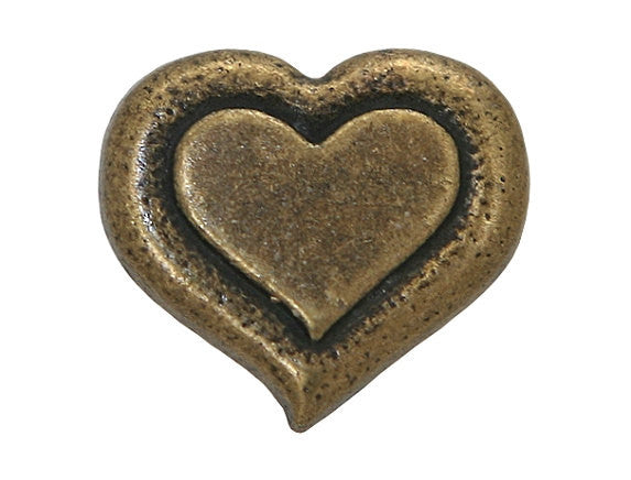 Dill Heartbeat 9/16 inch Metal Button Antique Gold Color