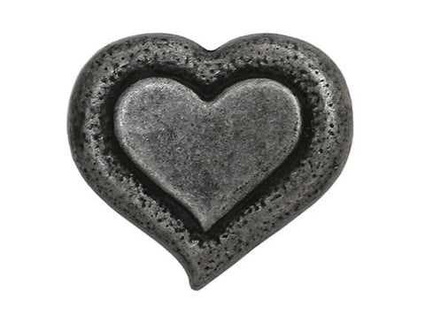 Dill Heartbeat 9/16 inch Metal Button Silver Color