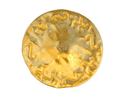 Phoenician 7/8 inch Metal Button Gold Color