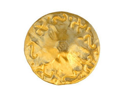 Phoenician 3/4 inch Metal Button Gold Color